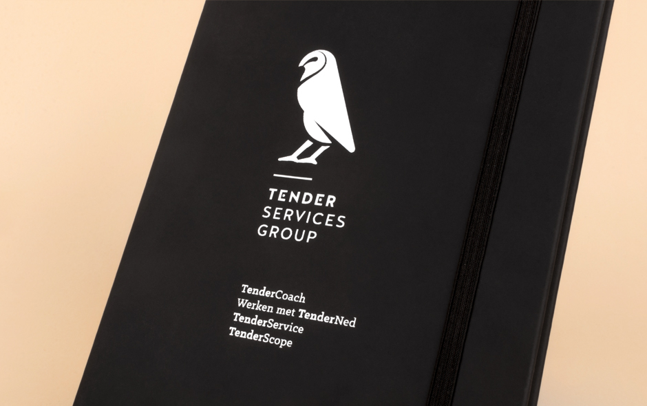 Grafisch ontwerpbureau Studio Mooijman en Mittelberg ontwerp visitekaartjes Tender Services Group