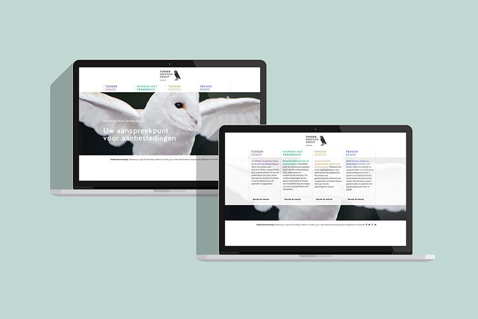 Grafisch ontwerpbureau Studio Mooijman en Mittelberg responsief ontwerp website Tender Services Group