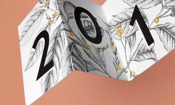Begeerlijke Botanica, Kerstkaart, drukwerk, illustratie, Studio Mooijman en Mittelberg, grafisch ontwerpbureau, Den Haag
