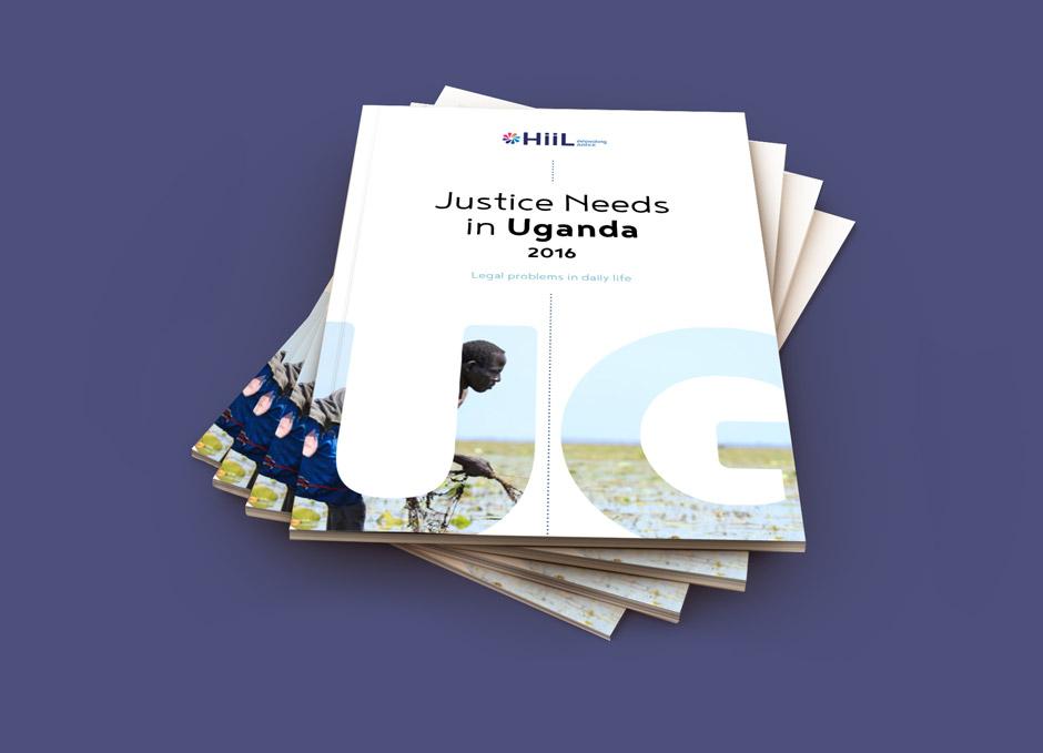 Grafisch ontwerpbureau Studio Mooijman en Mittelberg, Den Haag, ontwerp rapport, boek, Uganda, HiiL Innovating Justice
