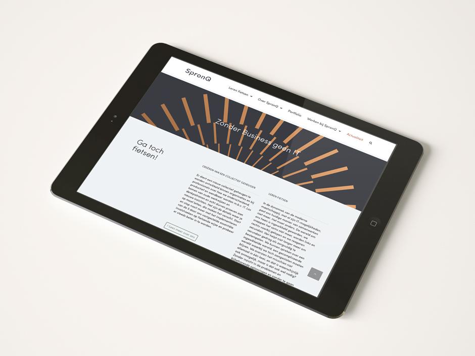 Grafisch ontwerpbureau Studio Mooijman en Mittelberg, responsief ontwerp website, logo, SpronQ