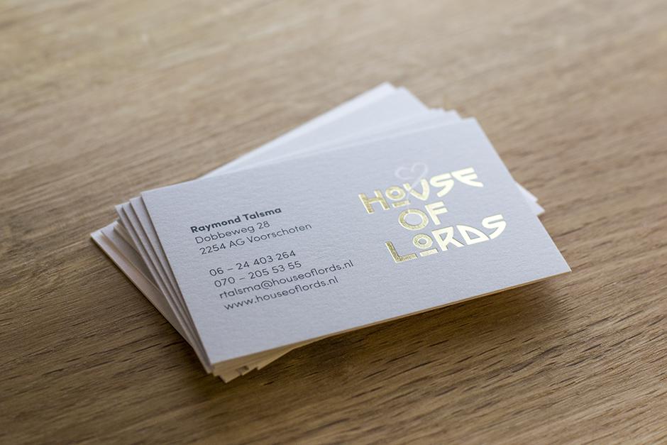 House of Lords, visitekaartjes, drukwerk, Studio Mooijman en Mittelberg, grafisch ontwerpbureau, Den Haag