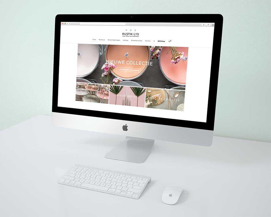 Rustik Lys, logo, website, Grafisch ontwerpbureau Studio Mooijman en Mittelberg, ontwerp, Den Haag