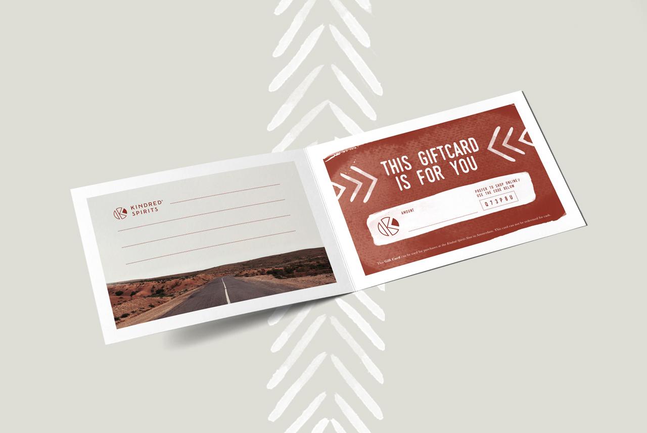 Kindred Spirits giftcard – Studio Mooijman en Mittelberg, Grafisch ontwerpbureau, Den Haag