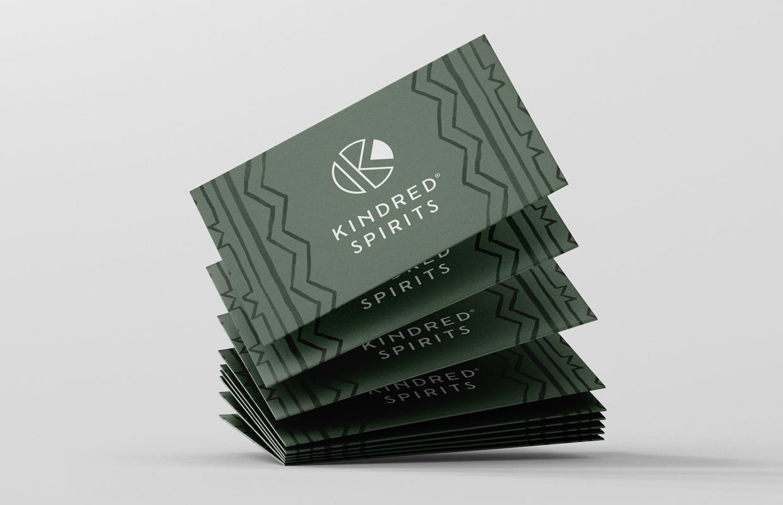 Kindred Spirits visitekaartjes – Studio Mooijman en Mittelberg, Grafisch ontwerpbureau, Den Haag
