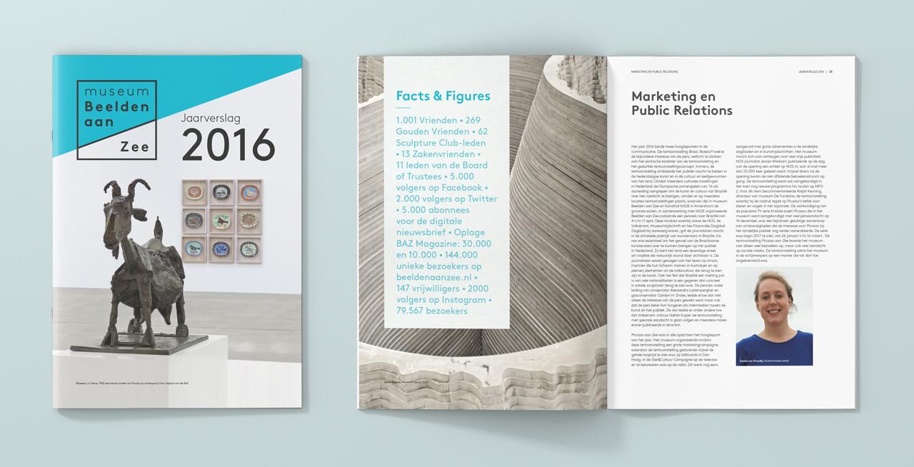 Museum Beelden aan Zee jaarverslag – Studio Mooijman en Mittelberg, Grafisch ontwerpbureau, Den Haag