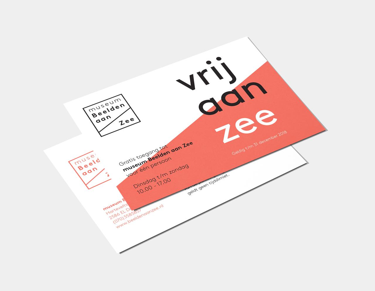 Museum Beelden aan Zee vrijkaart – Studio Mooijman en Mittelberg, Grafisch ontwerpbureau, Den Haag