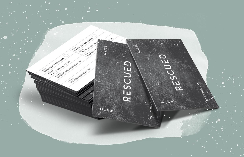 Rescued visitekaartjes – Studio Mooijman en Mittelberg, Grafisch ontwerpbureau, Den Haag