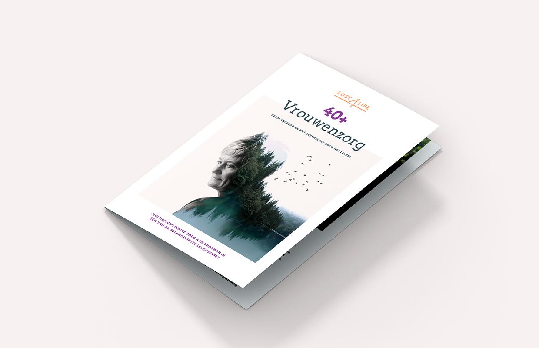 Lust 4 Life vrouwenzorg brochure – Studio Mooijman en Mittelberg, Grafisch ontwerpbureau, Den Haag