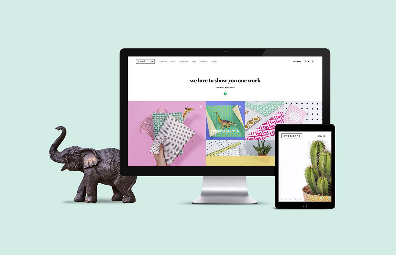 Eva en Anne website – Studio Mooijman en Mittelberg, Grafisch ontwerpbureau, Den Haag