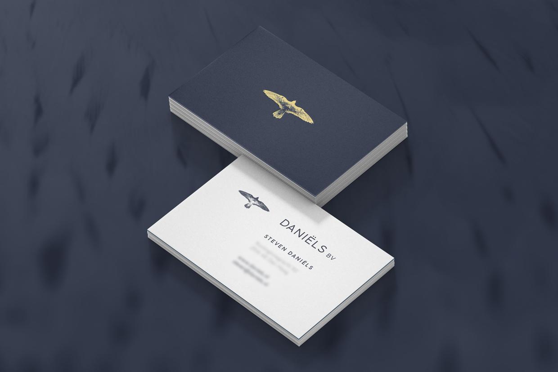 Daniëls BV visitekaartjes – Studio Mooijman en Mittelberg, Grafisch ontwerpbureau, Den Haag
