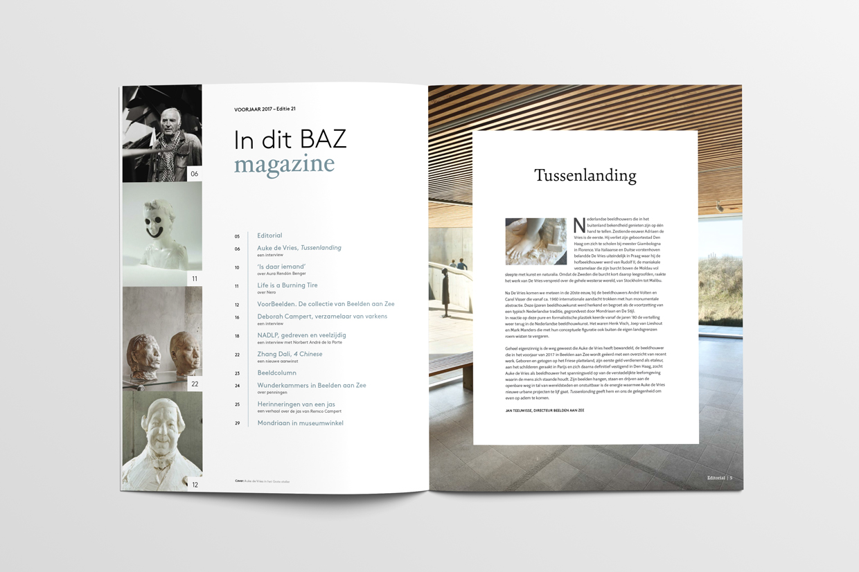 BAZ magazine – Studio Mooijman en Mittelberg, Grafisch ontwerpbureau, Den Haag