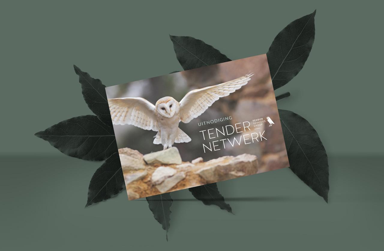 Tender Services Group uitnodiging – Studio Mooijman en Mittelberg, Grafisch ontwerpbureau, Den Haag