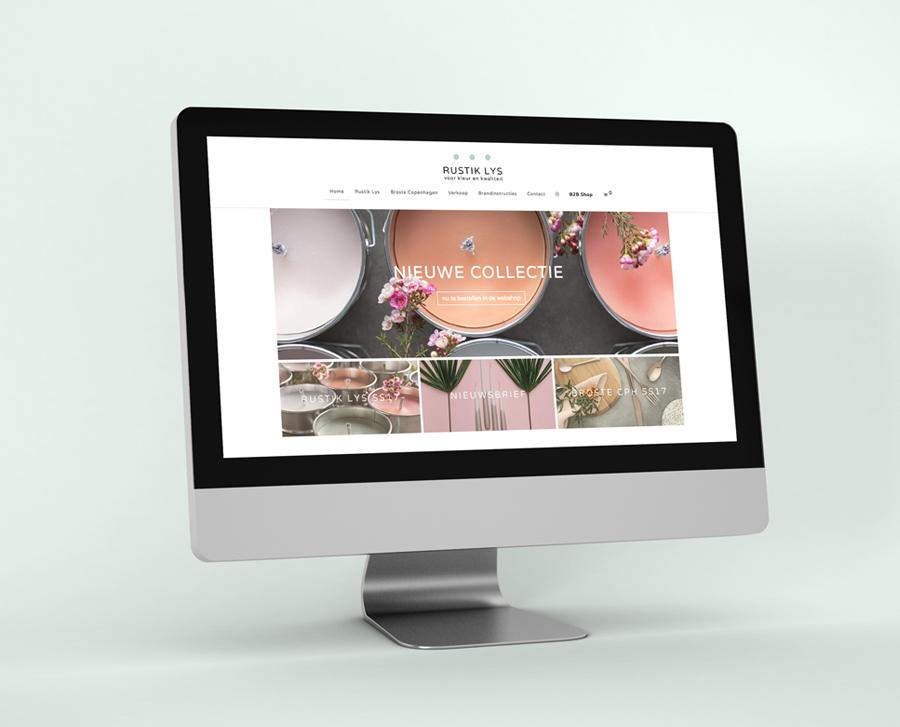 Rustik Lys website – Studio Mooijman en Mittelberg, Grafisch ontwerpbureau, Den Haag