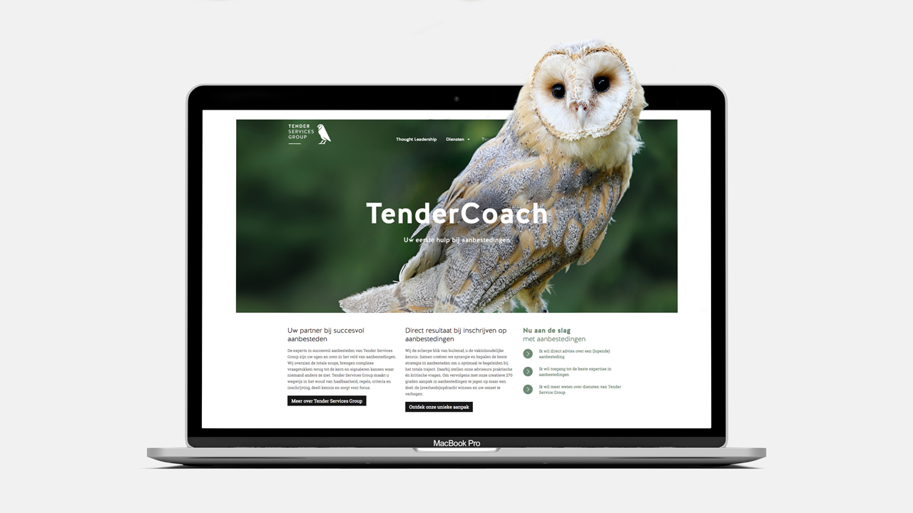 Tender Services Group website – Studio Mooijman en Mittelberg, Grafisch ontwerpbureau, Den Haag