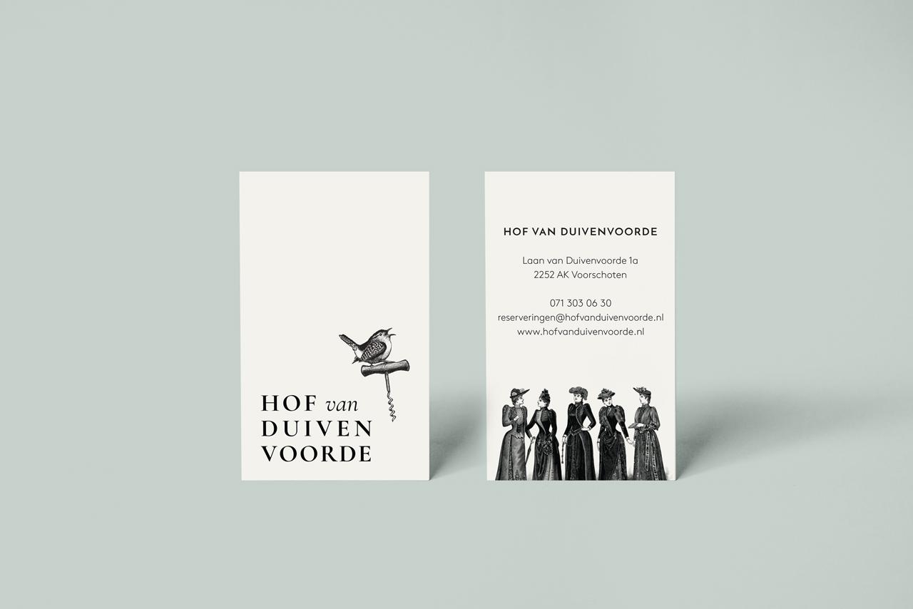 Hof van Duivenvoorde visitekaartje – Studio Mooijman en Mittelberg, Grafisch ontwerpbureau, Den Haag