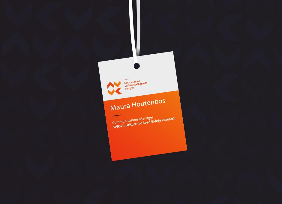 Het Nationaal Verkeersveiligheidscongres badge – Studio Mooijman en Mittelberg, Grafisch ontwerpbureau, Den Haag