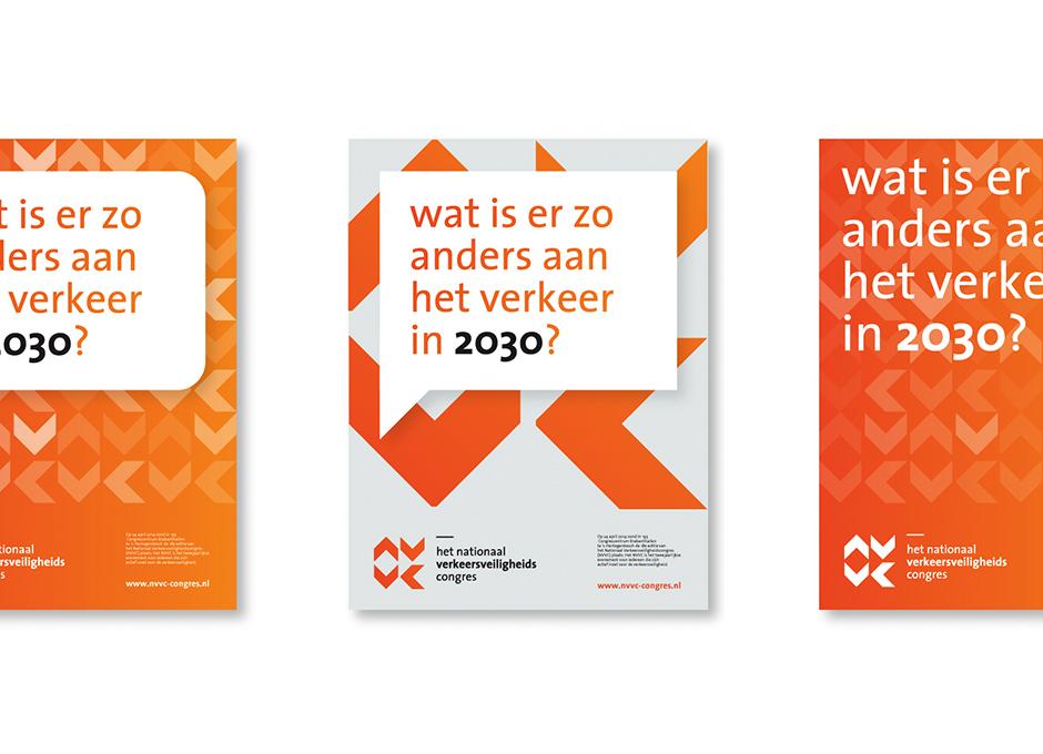 Het Nationaal Verkeersveiligheidscongres poster – Studio Mooijman en Mittelberg, Grafisch ontwerpbureau, Den Haag