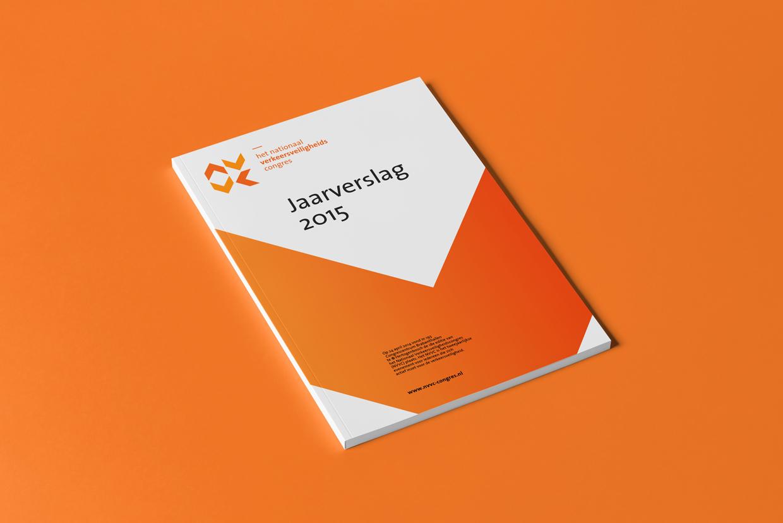 Het Nationaal Verkeersveiligheidscongres jaarverslag 2015 – Studio Mooijman en Mittelberg, Grafisch ontwerpbureau, Den Haag