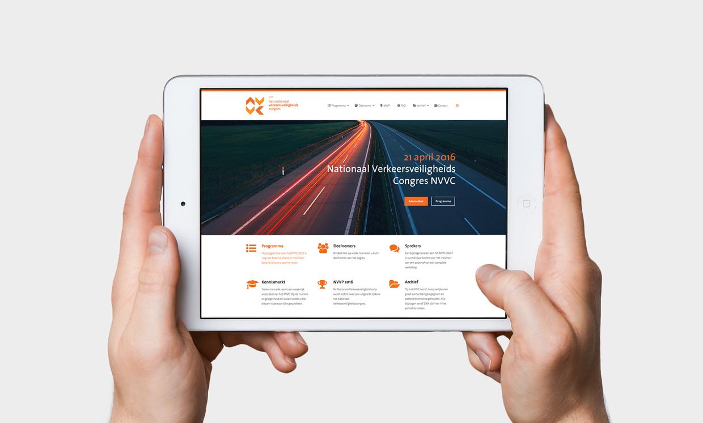 Het Nationaal Verkeersveiligheidscongres website – Studio Mooijman en Mittelberg, Grafisch ontwerpbureau, Den Haag