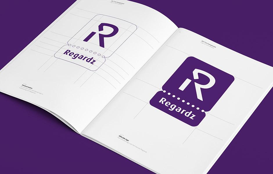 Regardz huisstijl handboek – Studio Mooijman en Mittelberg, Grafisch ontwerpbureau, Den Haag