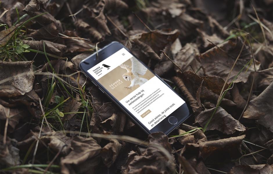 Tender Services Group webiste – Studio Mooijman en Mittelberg, Grafisch ontwerpbureau, Den Haag