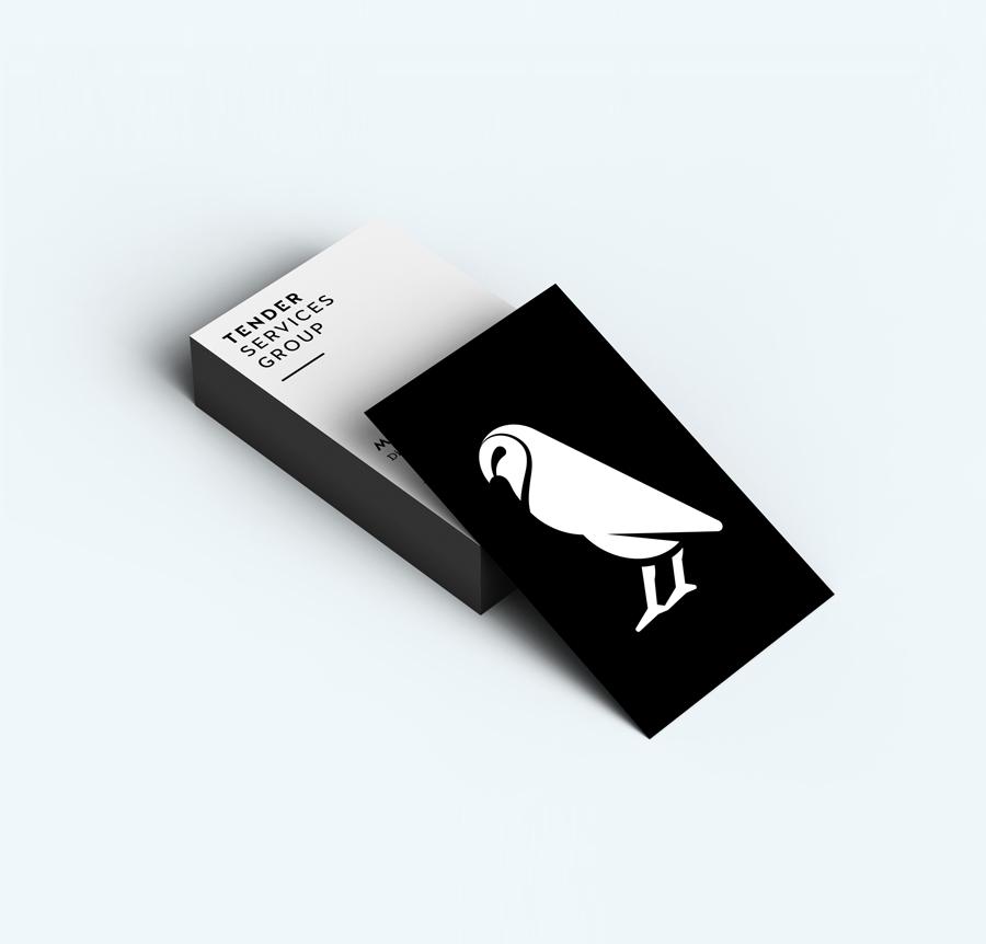 Tender Services Group visitekaartjes – Studio Mooijman en Mittelberg, Grafisch ontwerpbureau, Den Haag