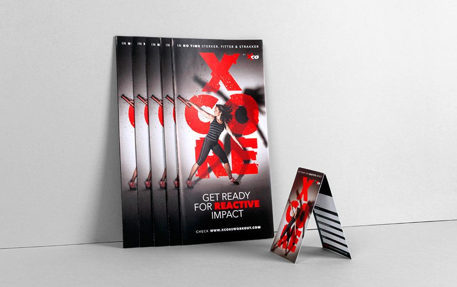 XCORE folder – Studio Mooijman en Mittelberg, Grafisch ontwerpbureau, Den Haag