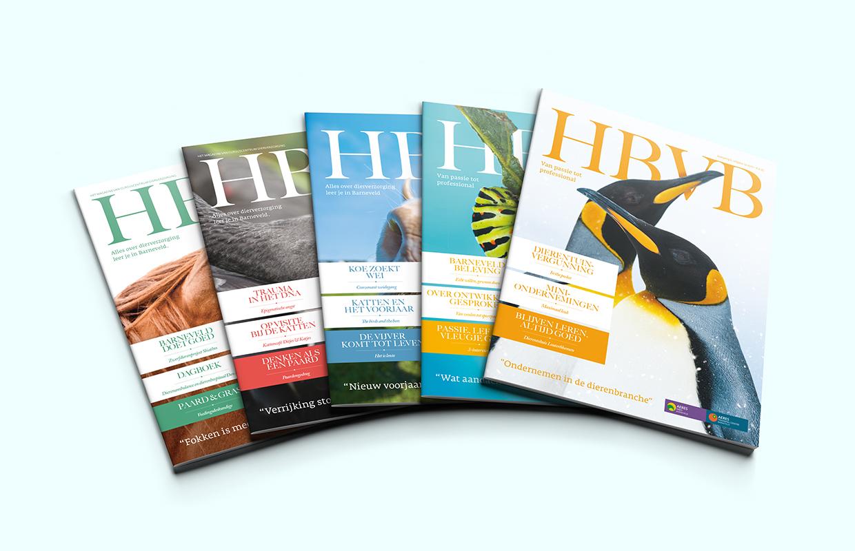 HBVB magazines – Studio Mooijman en Mittelberg, Grafisch ontwerpbureau, Den Haag
