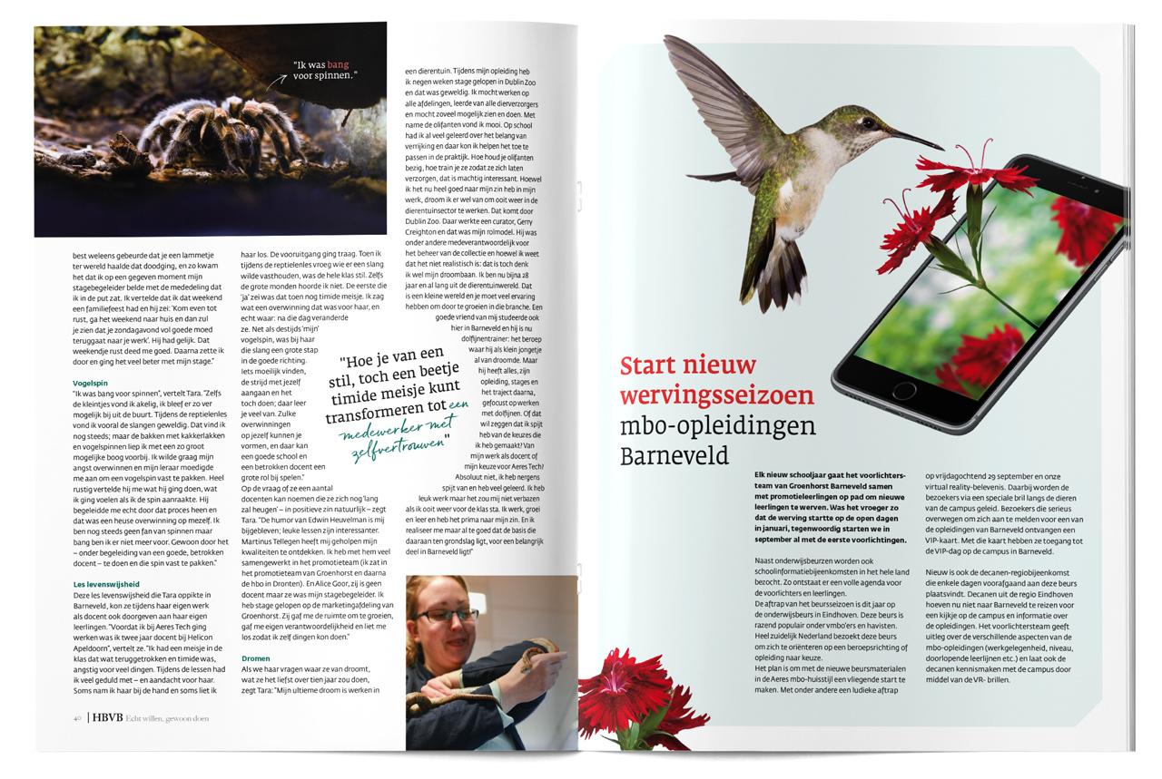 HBVB magazine – Studio Mooijman en Mittelberg, Grafisch ontwerpbureau, Den Haag