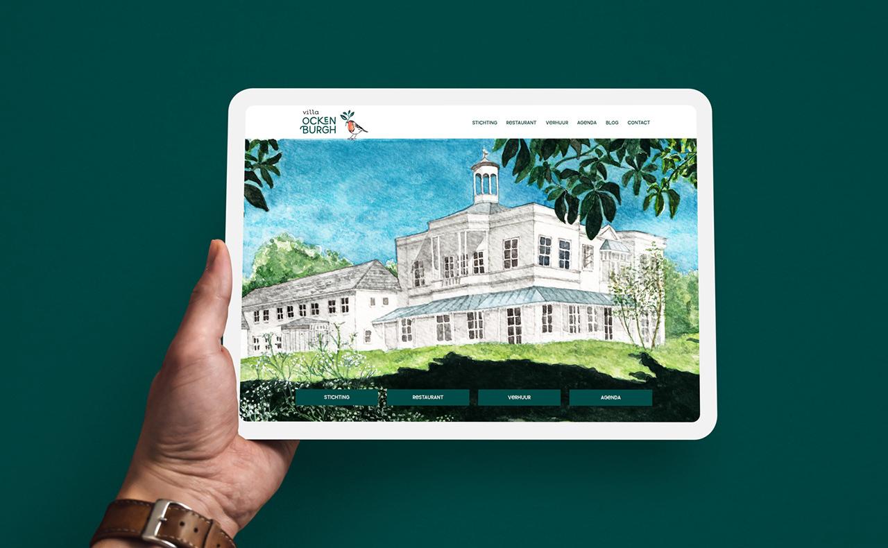 Website Villa Ockenburgh, Studio Mooijman en Mittelberg