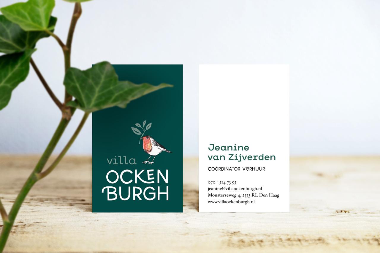 Visitekaartje Villa Ockenburgh, Studio Mooijman en Mittelberg