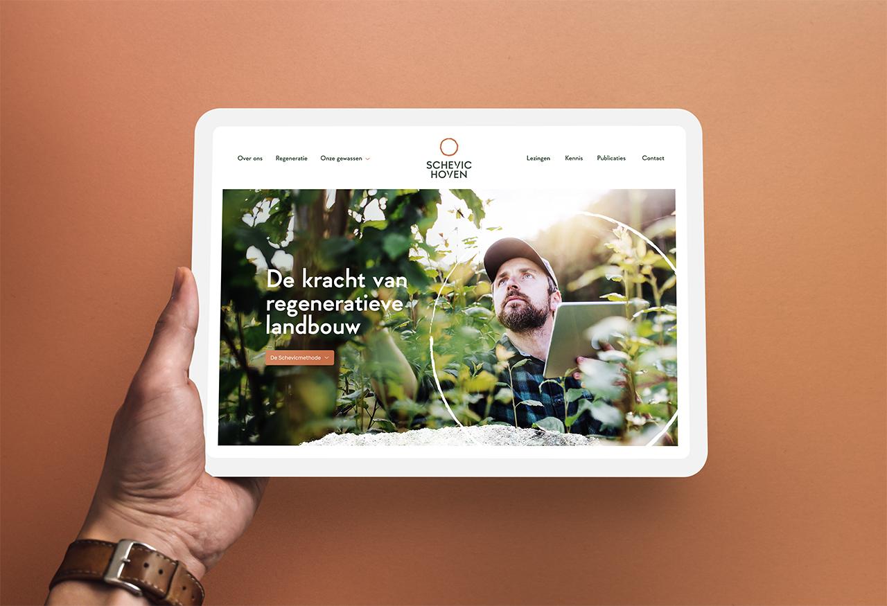 Website Schevichoven, ontwerp van Studio Mooijman en Mittelberg