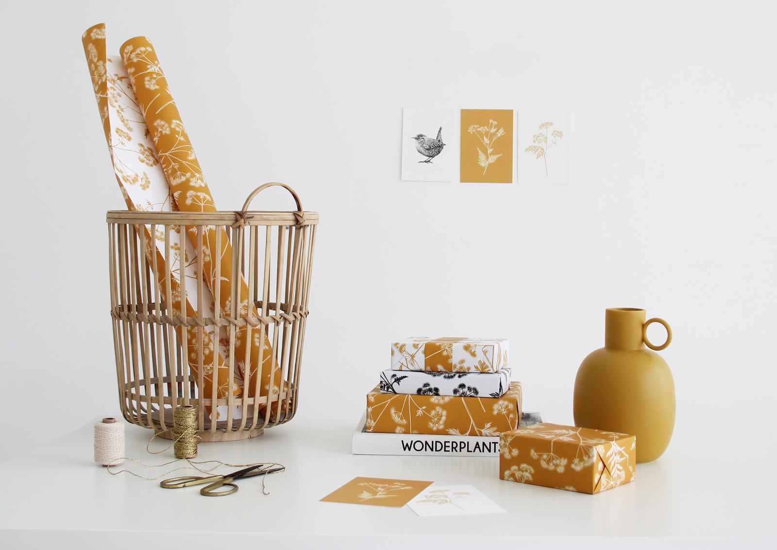 Illustraties inpakpapier Ompak, Studio Mooijman en Mittelberg, grafisch ontwerbureau Den Haag